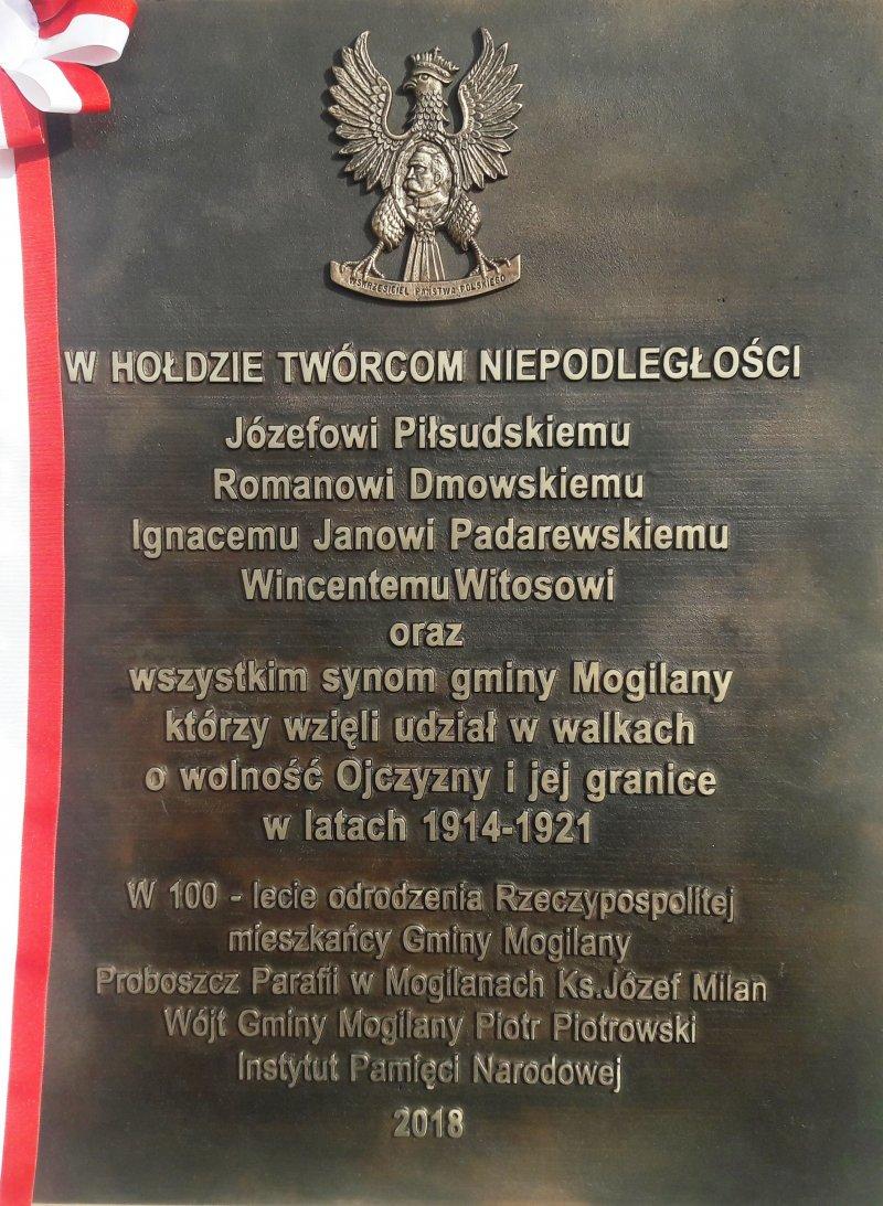 Do Instytutu Pamięci Narodowej w sprawie tablicy w Mogilanach
